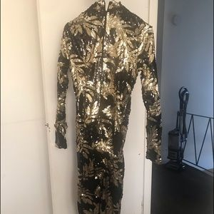 Sequin black and gold jumpsuit